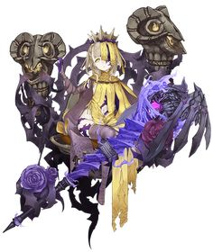 View an image titled 'Briar Rose, Half-Nightmare Job Art' in our SINoALICE art gallery featuring official character designs, concept art, and promo pictures. Female Character Design, Character Concept, Character Art, Concept Art, Art Anime, Anime Kunst, Anime Weapons, Briar Rose, Character Illustration
