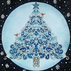 Number 5 Of My 12 Days Christmas Colouring Challenge Johannabasford Johannaschristmas