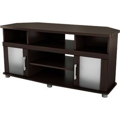 """South Shore City Life Corner Chocolate TV Stand, for TVs up to 40"""""""