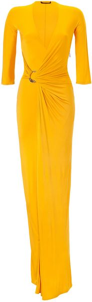 ROBERTO CAVALLI Sunflower Draped Dress