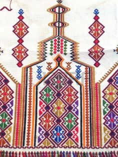 Traditional embroidery designs from the island of Crete Greece Stock Photo