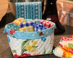 Etsy :: Your place to buy and sell all things handmade Fabric Bins, Fabric Storage, Fabric Decor, Fabric Basket, Farmhouse Style, Farmhouse Decor, Pioneer Woman Kitchen, Kitchen Storage, Kitchen Decor