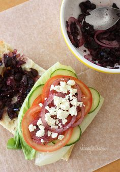 Looking for an EASY lunch idea? This Greek Salad Sandwich is perfect!
