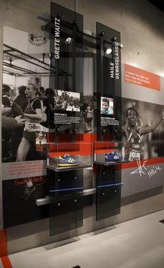 adidas Sport History Installation: running Pop Display, Display Design, Booth Design, Display Case, Banner Design, Exhibition Display, Museum Exhibition, Interactive Exhibition, Exhibition Stands