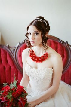 Vibrant red wedding editorial, Jessica Watson Photography, Florals Designs by Jessi