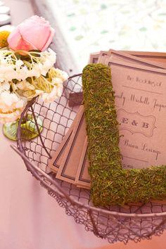 I love the moss letter