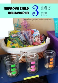 improve child behavior in 3 simple steps with free printable  http://www.beingtheimperfectmom.com/improve-child-behavior/  #rewardsystem #freeprintables
