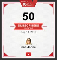 50 Subscribers Milestone! via @TubeBuddy Online Marketing, Social Media Marketing, Youtube Subscribers, Personal Branding, 50th, This Or That Questions, Self Branding