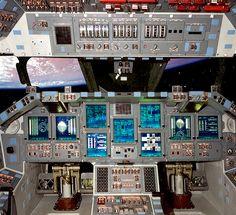 Atlantis Space Shuttle Cockpit Photo