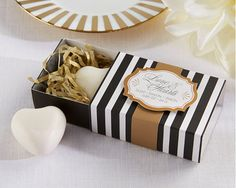 """""""Classic Heart"""" Scented Soap - replace the ribbon with hot pink and you've got a chic Kate Spade inspired favor"""