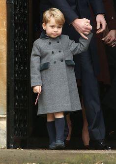 Prince George on Christmas morning