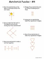 FREE MATCHSTICK Puzzles and REBUS puzzles can help stretch your mind and stimulate creativity. Print these out and see how many your students can solve.