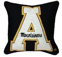 """APPALACHIAN STATE UNIVERSITY MOUNTAINEERS TAPESTRY COLLEGIATE PILLOW 17""""X17"""" 