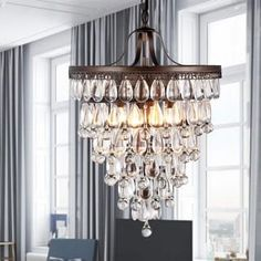 Shop for Martinee Antique Bronze and Crystal Inverted Pyramid Chandelier. Get free shipping at Overstock.com - Your Online Home Decor Outlet Store! Get 5% in rewards with Club O! - 9318929