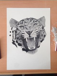 Leopard - 0.10mm dots & lines. by Xavier Casalta, via Behance