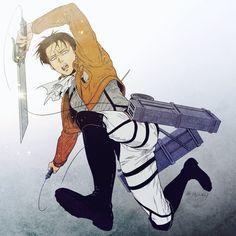 Levi Ackerman / Shingeki no Kyojin Anime Manga, Anime Guys, Anime Art, Levi Ackerman, Otaku, Levi And Erwin, Eruri, Attack On Titan Levi, My Hero Academia Episodes