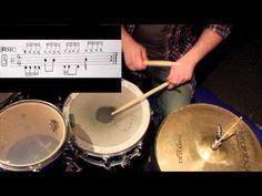 Schlagzeug lernen: Rock-Grooves #2
