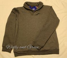 Wally and Grace Designs: Sewing for Men - Finlayson Sweater with a personalized back neck facing!