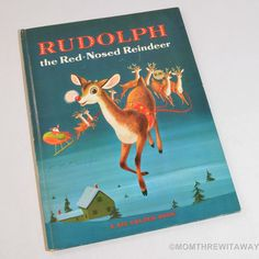 1971 RUDOLPH THE RED-NOSED REINDEER Big Golden Book RICHARD SCARRY