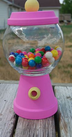 Faux Gumball Machine Candy Jar by BumblebeeBeauties on Etsy, $12.25
