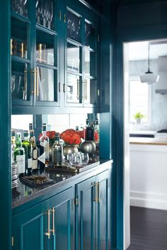 Decorating with color | teal + gold — The Decorista