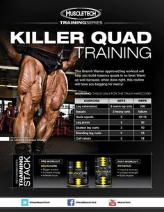 If you're looking for Killer Quads be sure to check out this Branch Warren approved leg workout and hit the gym hard!