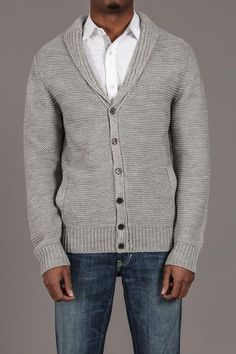 Carapace Shawl Collar Ribbed Cardigan With Side Pkts
