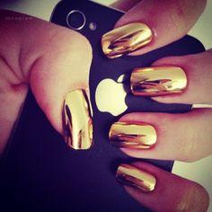 Pretty Painted Fingers & Toes Nail Polish  Serafini Amelia  gold nails   Tumblr