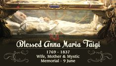 Blessed Anna Maria Taigi Prayer Card