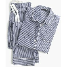 d58682e9f2 Crew Womens Petite Cotton Textured-Dot Sleep Set In Stripe (Size