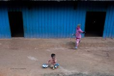 Kids playing in the village at Shan State, Myanmar.