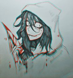 Jeff the killer Jeff The Killer, Scary Creepypasta, Creepypasta Characters, Mom Characters, Gothic Drawings, Emo Art, Creepy Pasta Family, Creepy Houses, Laughing Jack