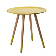Zuiver Bijzettafel hout geel Two tone yellow Manhattan, Two Tone Table, Interior Design Process, Yellow Table, House Doctor, Home Living, Living Area, Living Room, Small Tables