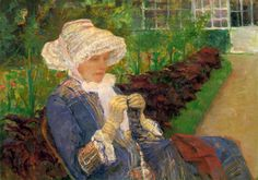 Mary Cassatt - Lydia fazendo crochet