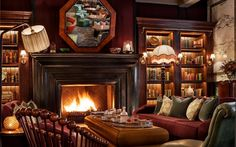 The Scarfes Bar (Rosewood London), Holborn. Of Buzzfeed's 16 Incredible Library Bars In London.