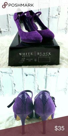 SALE White House Black Market Rory Purple Heels Amazing  White House Black Market Rory Purple Heels White House Black Market Shoes Heels