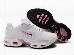 Nike Air Max TN Femme Chaussures De Course Blanc Metallic Rose Noir
