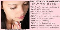 Pray for your husband!! He is God's gift to you as you are to him.