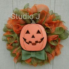 Hey, I found this really awesome Etsy listing at https://www.etsy.com/listing/463506884/jack-o-lantern-wreath-lights-up