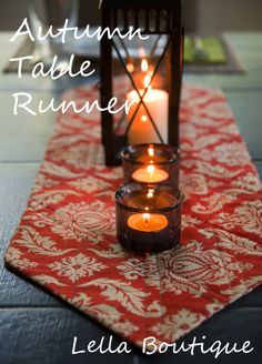 Table runner tutorial...love those points!