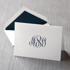 monogrammed stationary by TheBridgeWithin