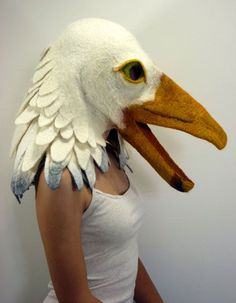 Great Felted Halloween Masks - Neatorama