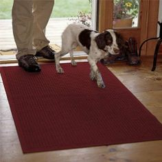 "Water Trapper Grid Mats / Only 35.25"" X 97"", Black/Red, by Orvis. $149.00. Our thirsty polypropylene mats are designed to keep your floors clean throughout the worst that any season can dish out. Side channels allow water to drain quickly, thick fibers scrape off mud and snow, while thin fibers remove moisture from the soles of boots and shoes. Strong rubber backing gives traction on all floor surfaces. The mats are easy-care; just hose off to clean. Polypropylene. Ma..."