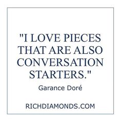 What piece of jewellery is your conversation starter?  #Richdiamonds #London #Luxury #Jewellery #Quotes