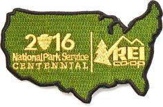 REI Co-op National Park Service Centennial Park Patch United States National Park Patches, Sew On Badges, Centennial Park, Patch Design, Sew On Patches, State Parks, Ranger, Park Service, Christmas 2016