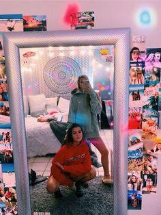 132 cute dorm rooms decoration for cute girl 73 Cute Room Ideas, Cute Room Decor, Best Friend Photos, Best Friend Goals, Dream Rooms, Dream Bedroom, Tumbler Diy, Tumbler Room Ideas, Tumblr Rooms