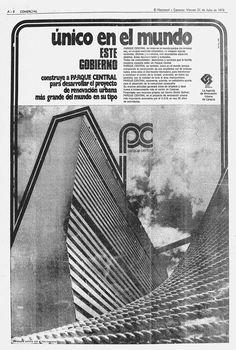 Publicidad de Parque Central. Publicado el 21 de julio de 1972