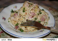 Gnocchi po česku - se zelím a slaninou Gnocchi, Bon Appetit, Pasta Recipes, Potato Salad, Spaghetti, Pork, Potatoes, Meat, Chicken