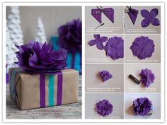 DIY Tissue Paper Flower Topper Tutorial