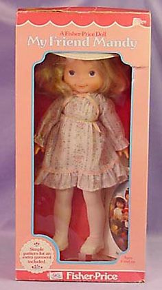 My Friend Mandy doll, 1979 by Fisher Price.so glad I saved this doll for my little girl 30 years later :) My Childhood Memories, Childhood Toys, Sweet Memories, Fisher Price Toys, Vintage Fisher Price, Kickin It Old School, Tears Of Joy, I Remember When, My Memory